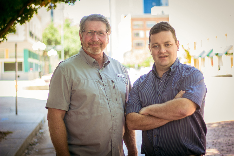 John DIckinson (left) and Daniel Ahern- co owners of the Iron Horse Pub. Image Property of the Hub Of North Texas