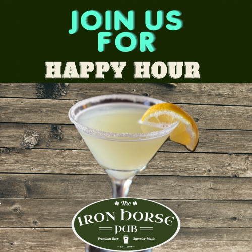 join us for a happy hour martini