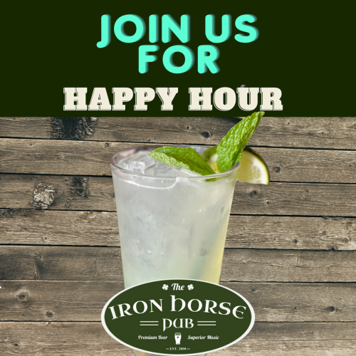 join us for a happy hour mojito